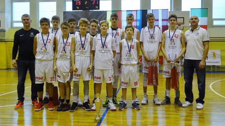 Audentese U14 noormehed võitsid täiseduga koduse EYBL-i turniiri