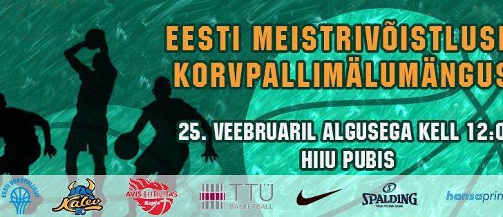 Pane tiim kirja! 25. veebruaril selgitatakse taas Eesti parimad korvpallimälumängurid