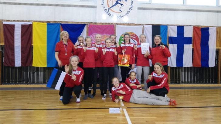 Audentese Spordiklubi U13 tüdrukud saavutasid EGBL turniiril II koha