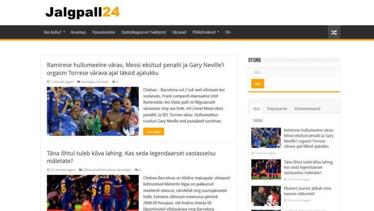 Alustas portaal Jalgpall24.ee, mis toob lugejani vutimaailma lõbusama poole