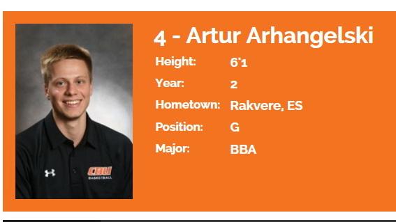Artur Arhangelski tegi Kanada ülikooli eest esimesed mängud ja viskas esimesed punktid